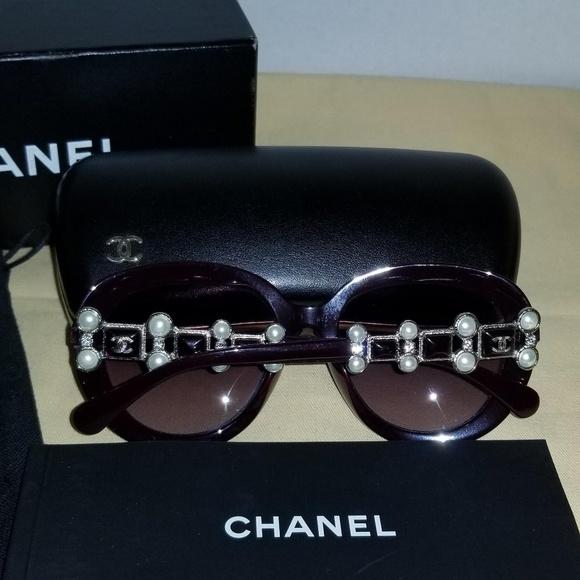 61117268638 CHANEL Bijoux Pearl Sunglasses NIB